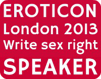 Eroticon speaker badge pink