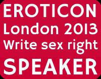 Eroticon speaker badge pink