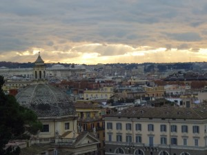 View of Rome from Borghese GardensP1010033
