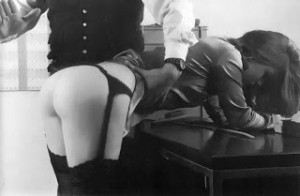 21 spanked in stockings