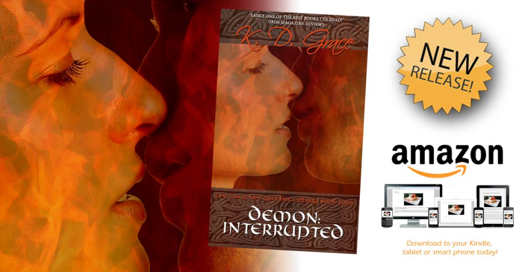 FB Kindle new release demon interrupted the right cover